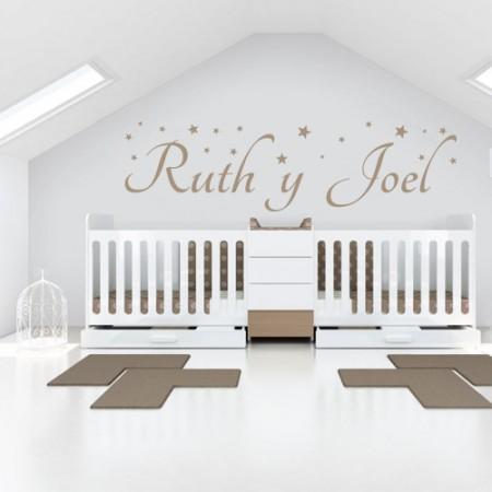Vinilos nombres Ruth y Joel