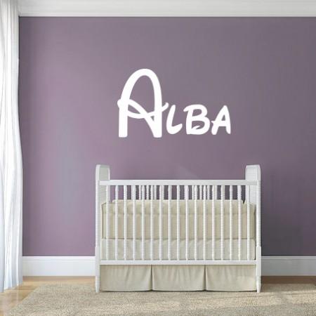 Vinilo nombre Alba
