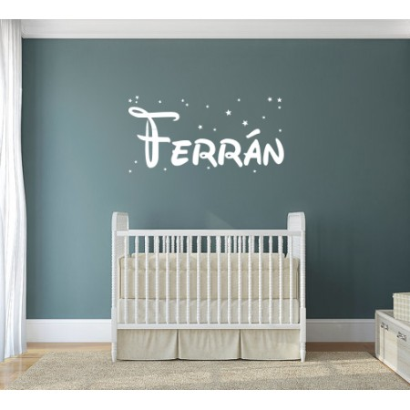 Pegatina pared nombre Ferrán