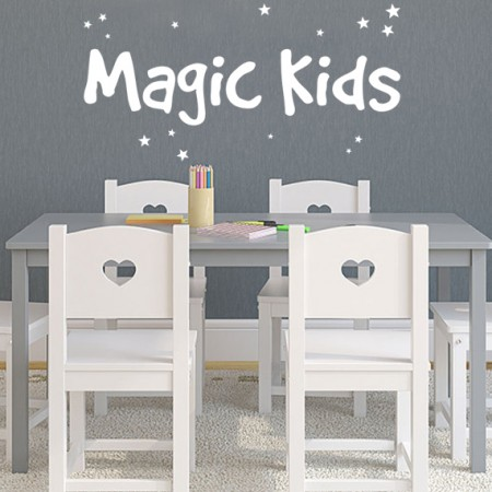 vinilos palabras Magic Kids