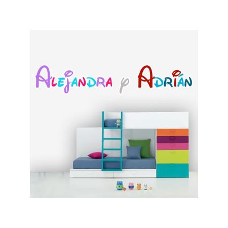 Vinilos Alejandra y Adrián colores