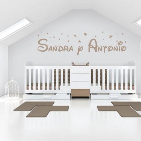 Vinilo Nombres Sandra y Antonio