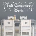 vinilos Feliz Cumpleaños, Sofía
