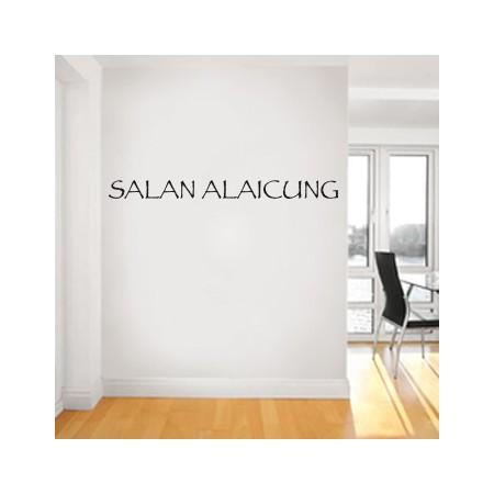 Vinilo Texto Salan Alaicung