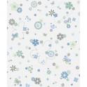 Papel Pintado Infantil Azul de Flores