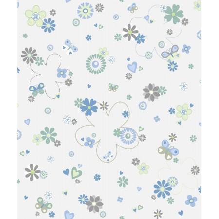 Papel pintado infantil Flores Azules