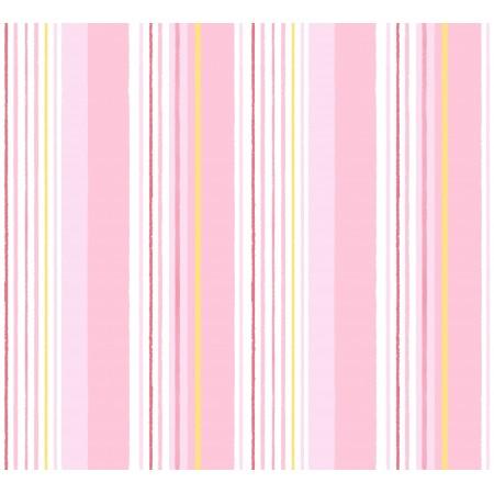 Papel Pintado rayas rosas