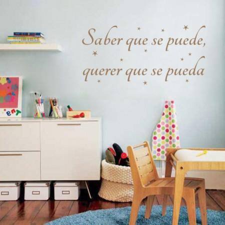 """Vinilo Frase """"Saber que se puede"""""""