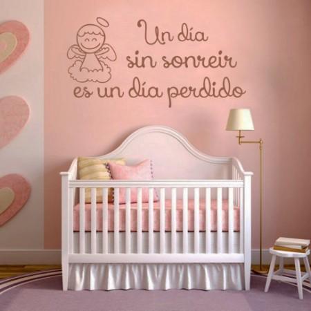 Vinilo infantil con angelito y frase
