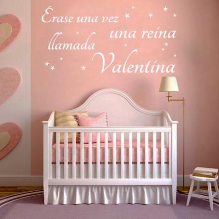 Vinilo nombre Reina Valentina