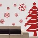 vinilos decorativos arbol y nieve navidad