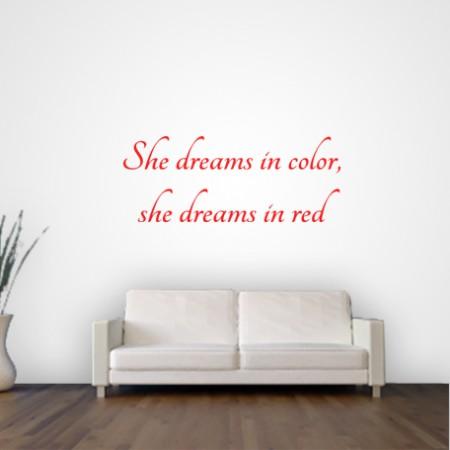 Vinilo frase inglés She Dreams...