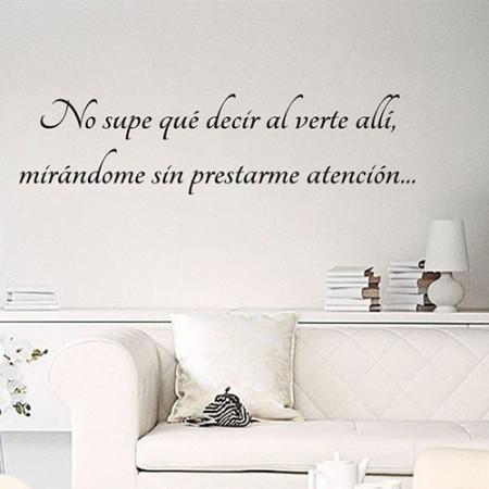 """Vinilos Frase """"No supe qué decir..."""""""