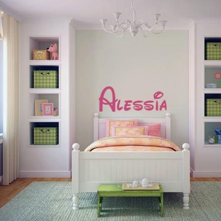 Vinilo nombre Alessia Disney