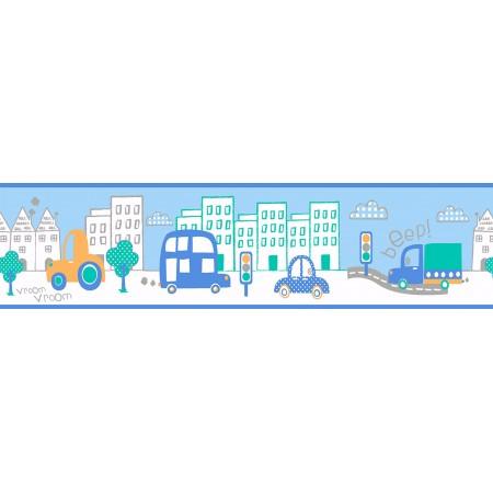 Cenefas Infantiles ciudad azules Ambiente