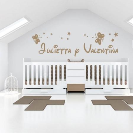 vinilos nombres Julietta y Valentina