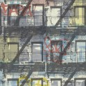 Papel Pintado Edificio tonos Azules Grises