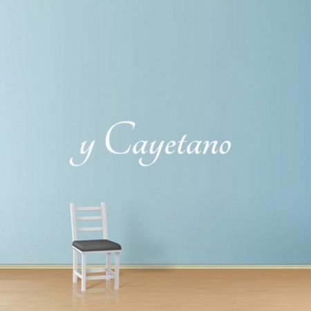 vinilos nombre Cayetano