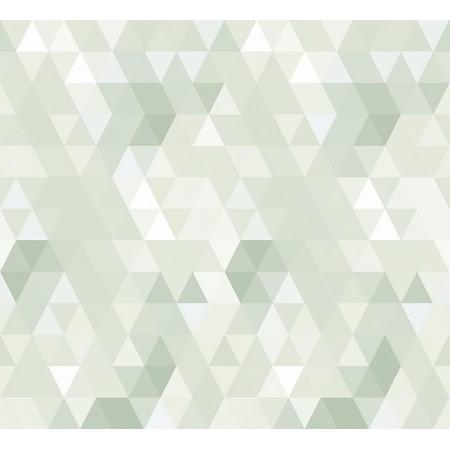 Papel Pintado Infantil Abracadabra triángulos verdes