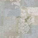 Papel pintado vinílico tela Jacard flores verde