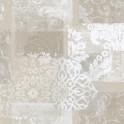 Papel pintado vinílico Jacard flores beige
