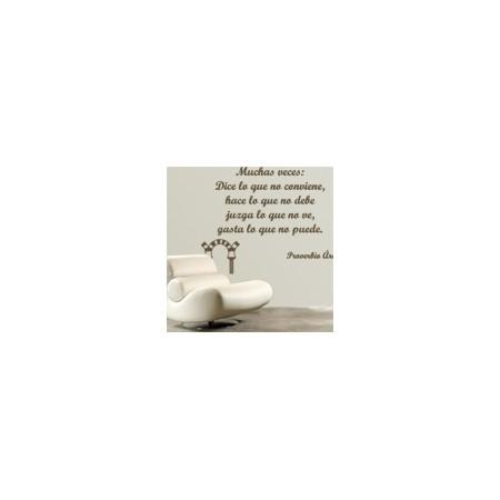 vinilos decorativos textos Proverbio Árabe
