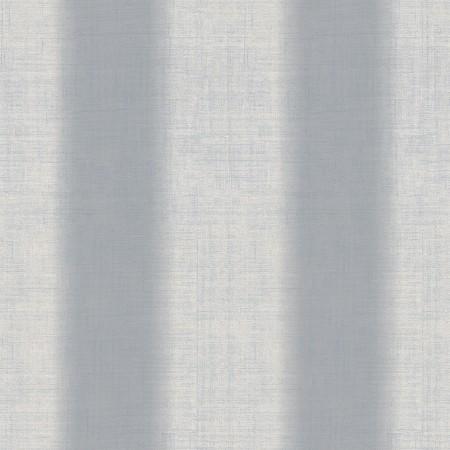 Papel pintado vinílico textura imitación tela Lino en rayas azules