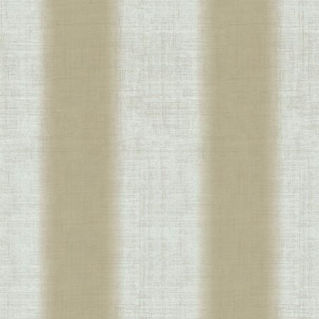 Papel pintado vinílico de textura imitación tela Lino en rayas verdes