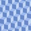 Papeles pintados de Cubos monocolor con efecto 3D color azul
