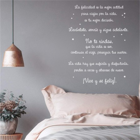 Vinilo texto La Felicidad