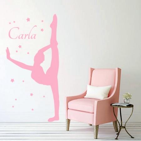 Vinilos decorativo Carla Gimnasta