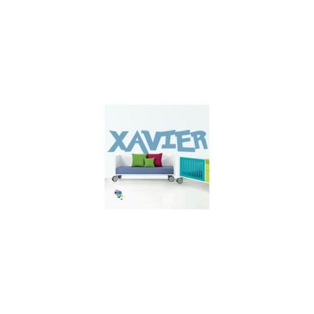 vinilos decorativos nombres Xavier