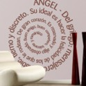 vinilos decorativos textos espiral angel