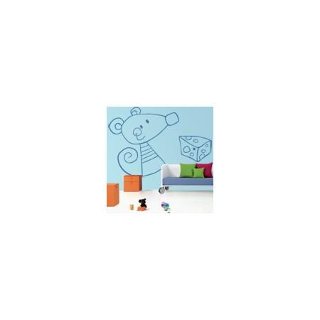 vinilos decorativos infantiles ratoncito y queso