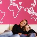 vinilos decorativos Mapa Mundo