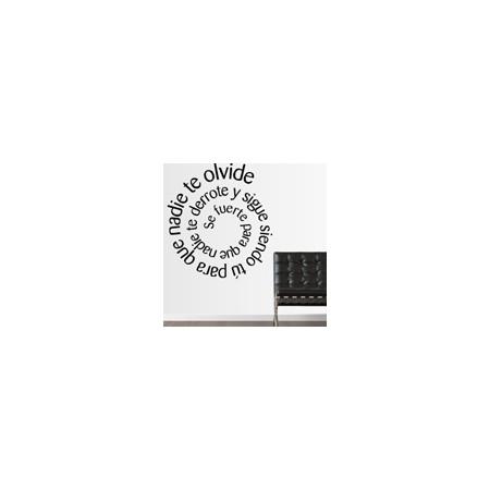 vinilos decorativos Textos espiral personalizado