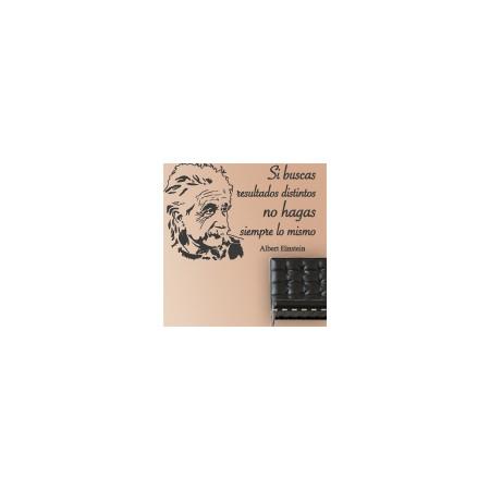 vinilos decorativos Frase Einstein