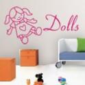 vinilos decorativos muñecas