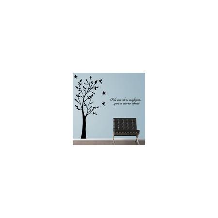 vinilos decorativos Árbol con poema