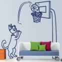 vinilos infantiles Gatito Baloncesto