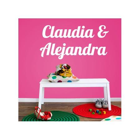 vinilos decorativos Claudia & Alejandra