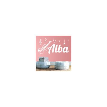 vinilos decorativos nombre Alba