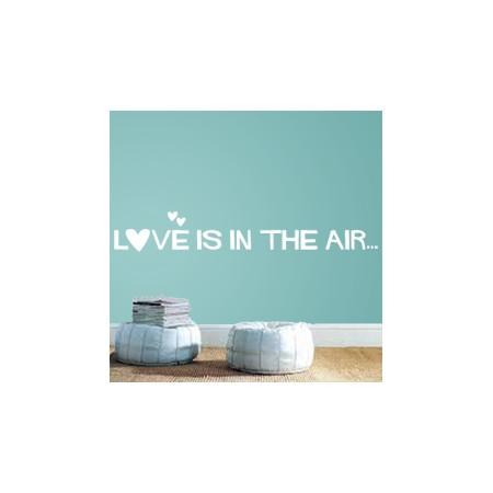 vinilo9s decorativos texto Love is in the Air