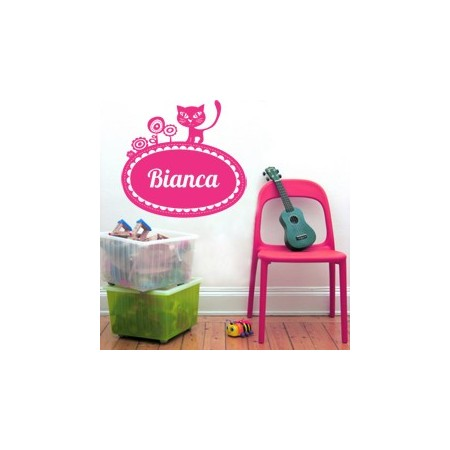 vinilos infantiles Nombre Bianca