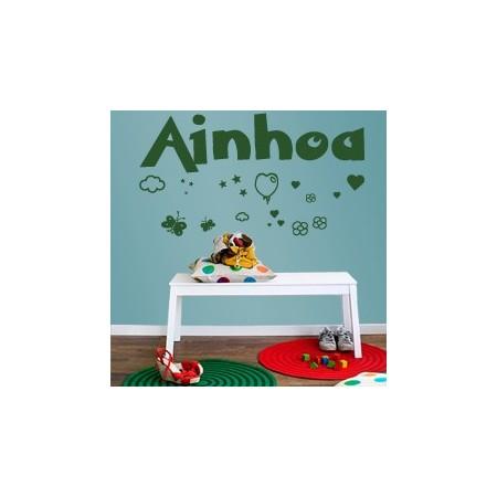 vinilos infantiles Nombre Ainhoa