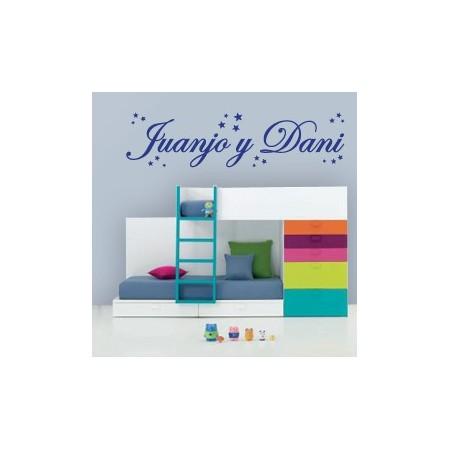 Vinilos infantiles Nombres: Juanjo y Dani
