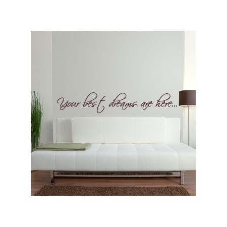 vinilos decorativos frase Best Dreams