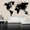 vinilos decorativos mapa mundi