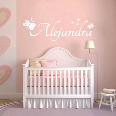 Vinilos decorativos infantiles con el nombre alejandra dqcolor vinilos - Letras para paredes infantiles ...