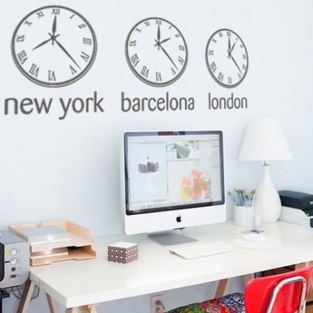 Vinilos decorativos Relojes Horas Barcelona